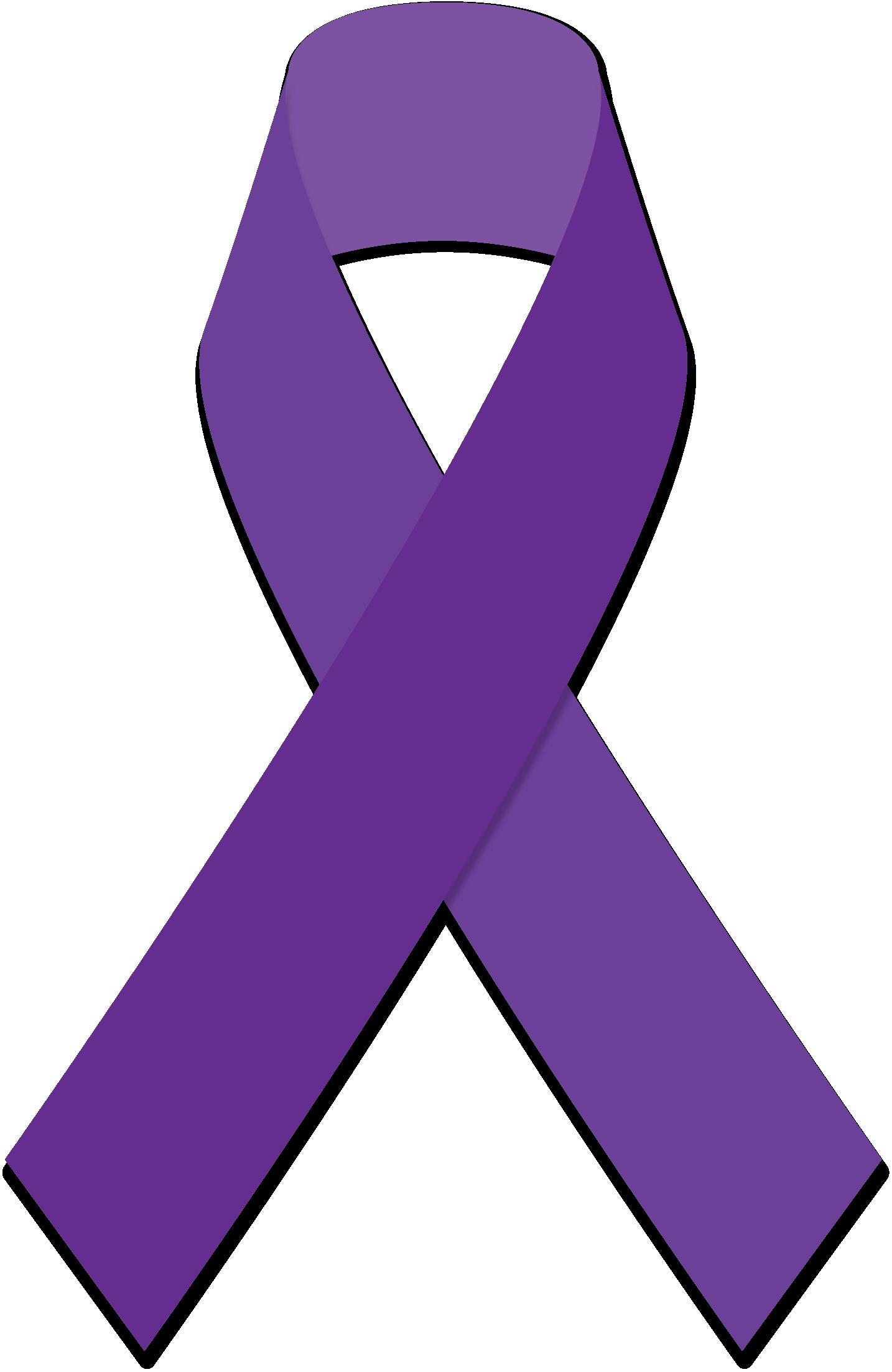 Purple awareness ribbons