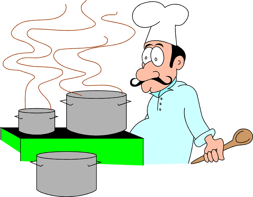 Free Stock Photos | Illustration of a cartoon chef with cooking ...