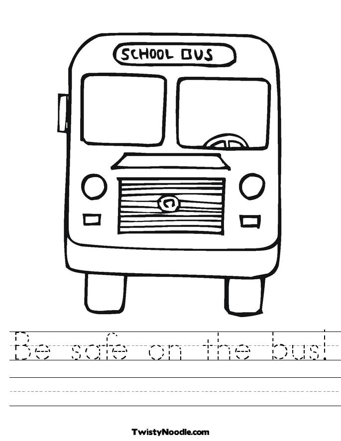 School Bus Safety For Kids Worksheets