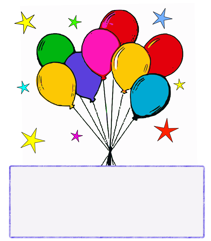 Balloon Banner Flying Clip Art Download