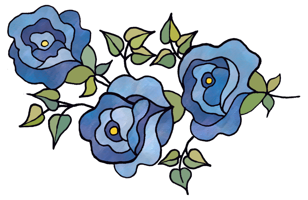 ArtbyJean - Paper Crafts: FLOWERS - Set A24 - Blue Patchwork - A ...