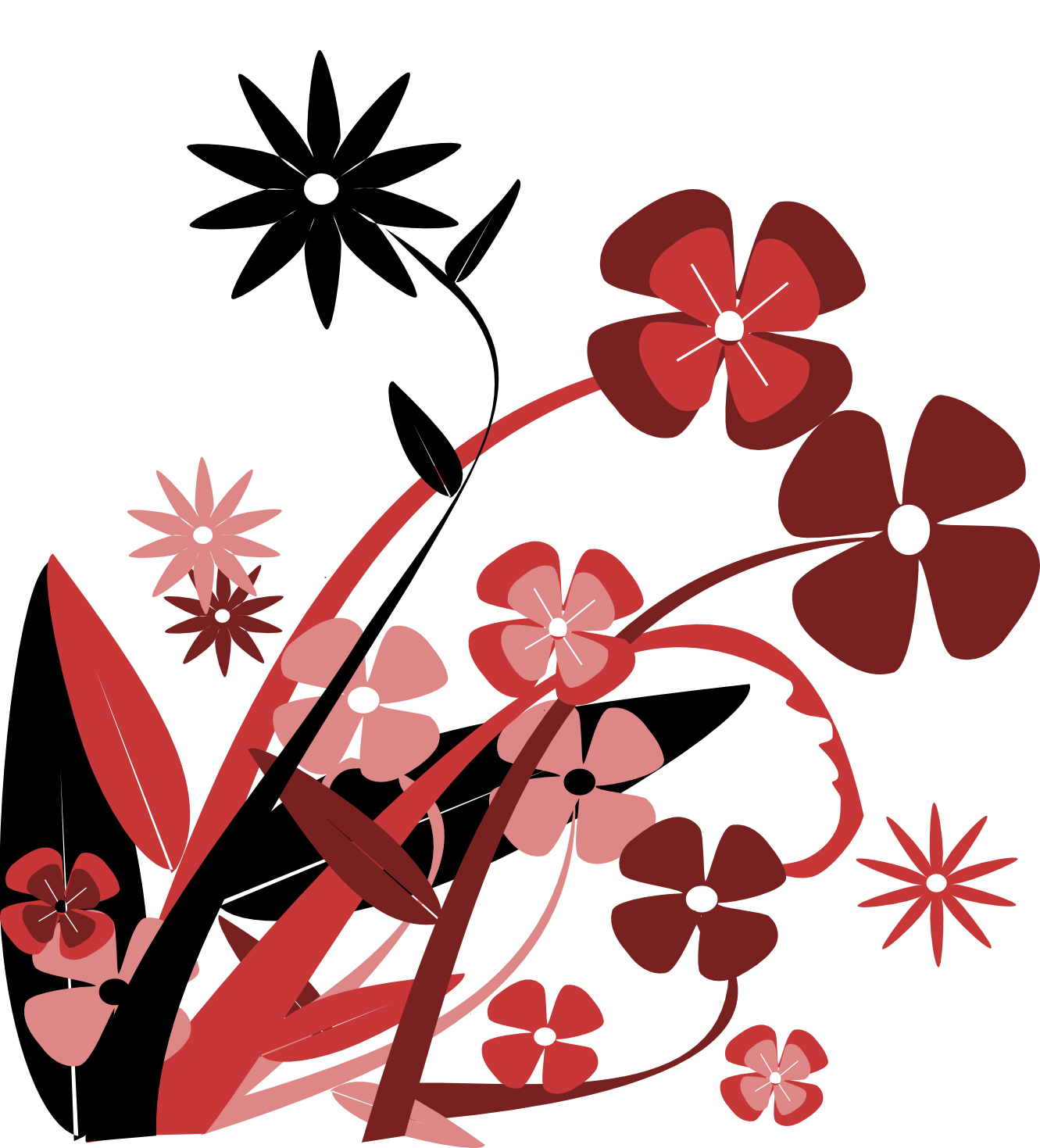 flower vector art free cliparts co free spring flower black and white clipart free spring flowers clip art images