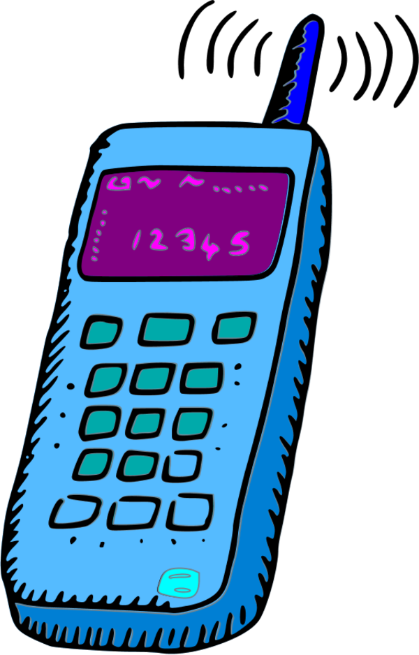 Analogue Mobile Phone - Vector Clip Art - Cliparts.co