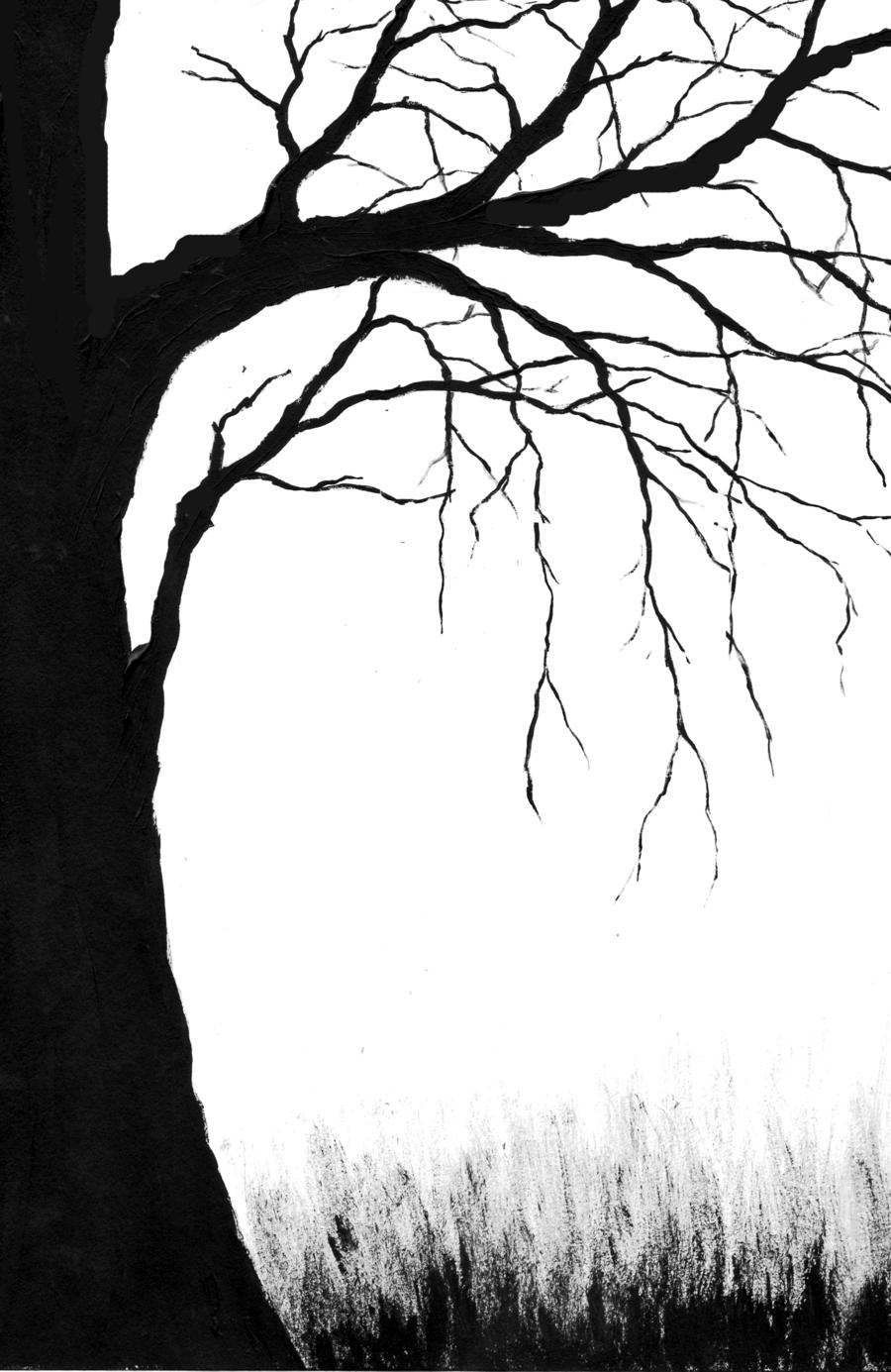 Creepy tree silhouette for Creepy trees for halloween