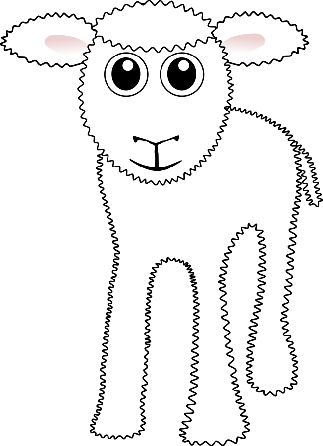 Funny White Lamb Cartoon Clipart, vector clip art online, royalty ...