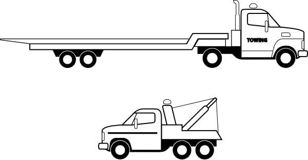 pictures of flatbed trucks