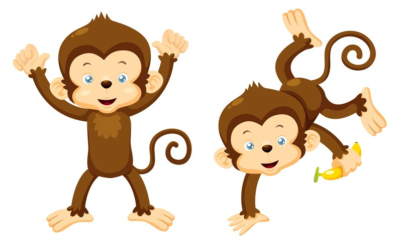 clipart monkey hanging from tree - photo #30