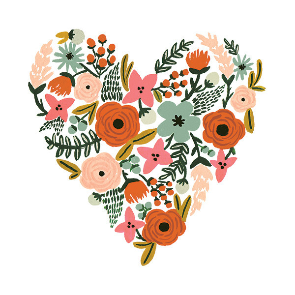 Tattly™ Designy Temporary Tattoos. — Floral Heart