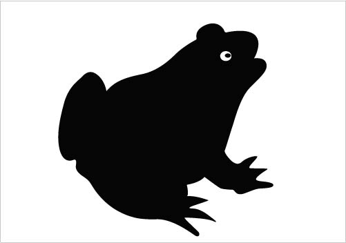 Frog Silhouette Vector Clipart Download Silhouette Graphics