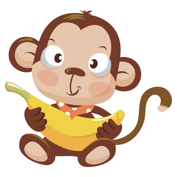Monkey Eating A Banana - ClipArt Best
