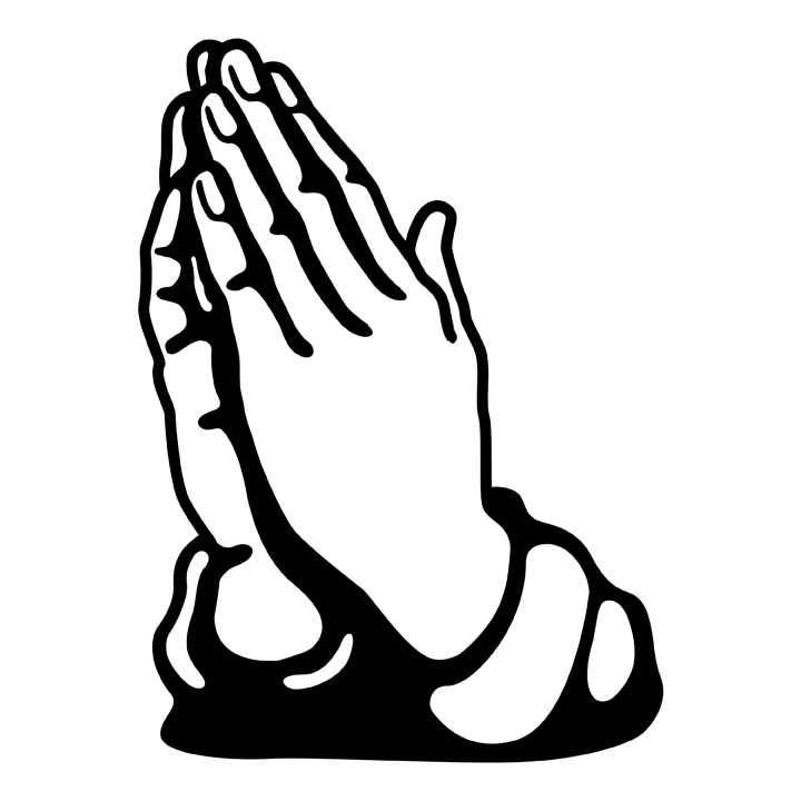 Cartoon Prayer Hands