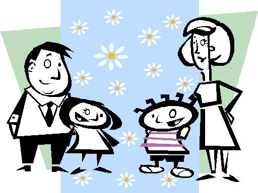 Family Cartoon Of 4 - ClipArt Best