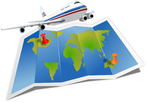 Airplane Travel clip art - vector clip art online, royalty free ...