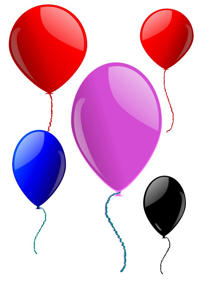 Free Clip Art Balloons And Confetti - Cliparts.co