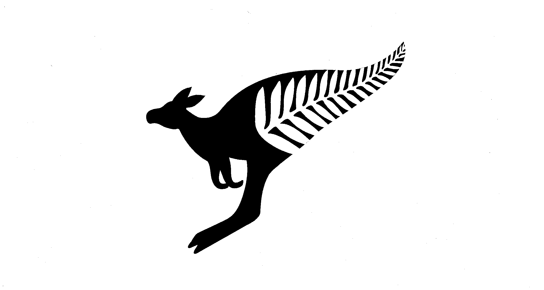 FERN LEAF FORMS TAIL OF KANGAROO,SILHOUETTE by Cazna Australia Pty ...