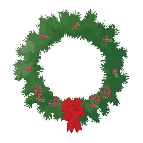 clipart christmas wreath free - photo #16