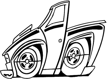 Old car line drawings 12