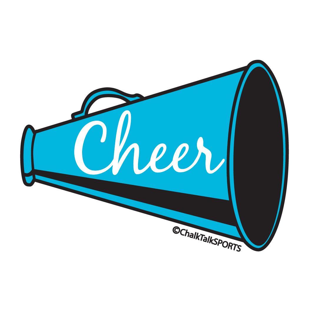 cheerleading megaphones clip art clipartsco