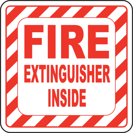 Gorgeous image in printable fire extinguisher sign