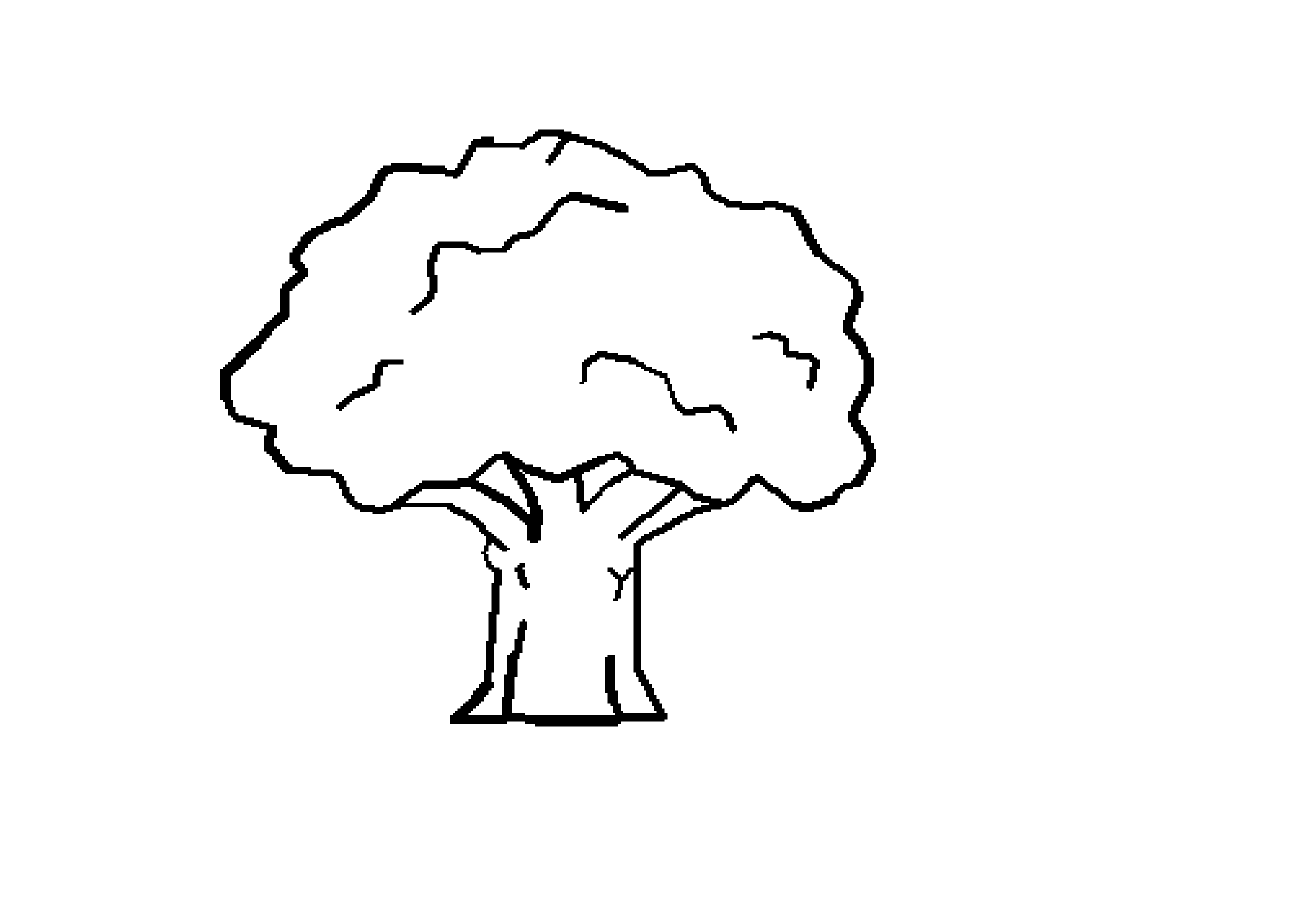 Line Drawing Of Tree : Tree line art cliparts