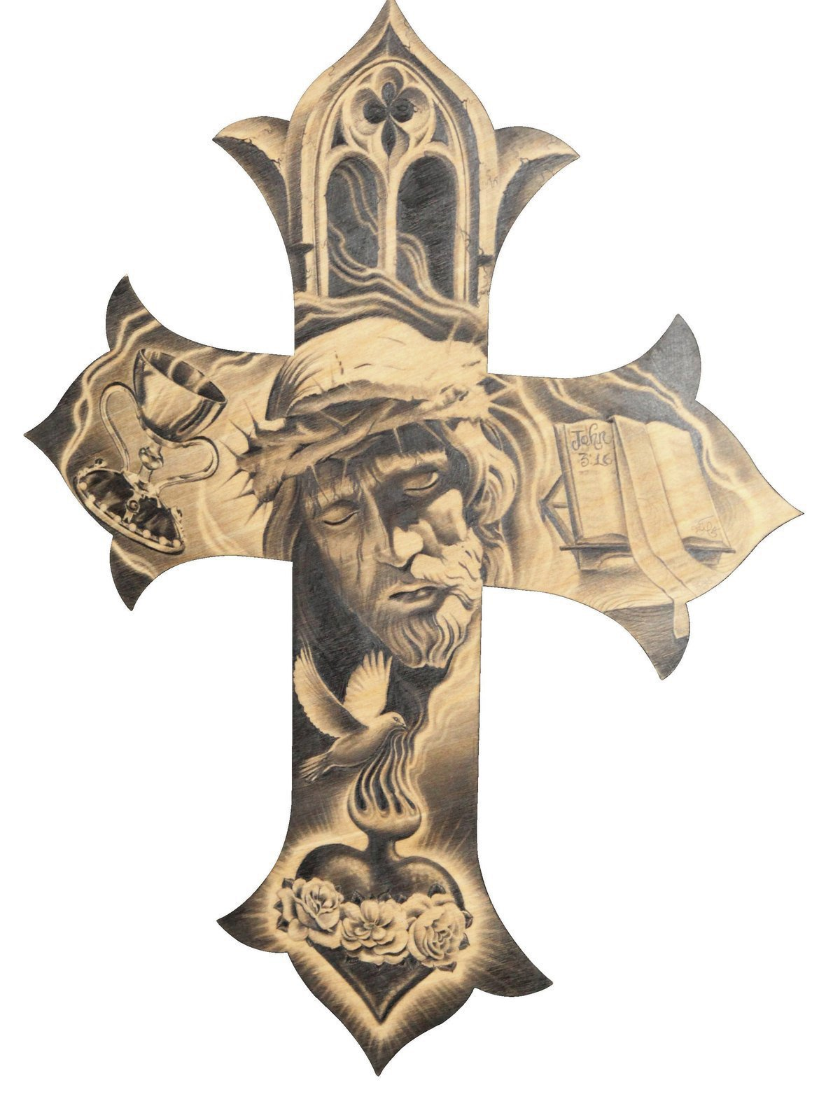 Wooden Cross Drawing - Cliparts.co