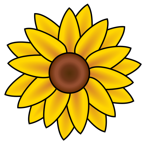 File:Sunflower clip art.svg - Wikimedia Commons