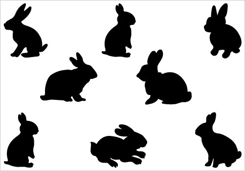 clipart image easter bunny silhouette - photo #25