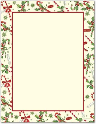 Letterhead borders clipartsco for Christmas stationary border