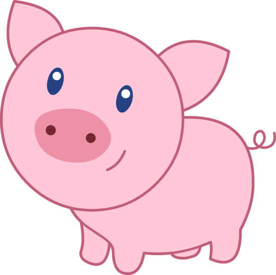 Cute Happy Pink Pig - Free Clip Art - Cliparts.co