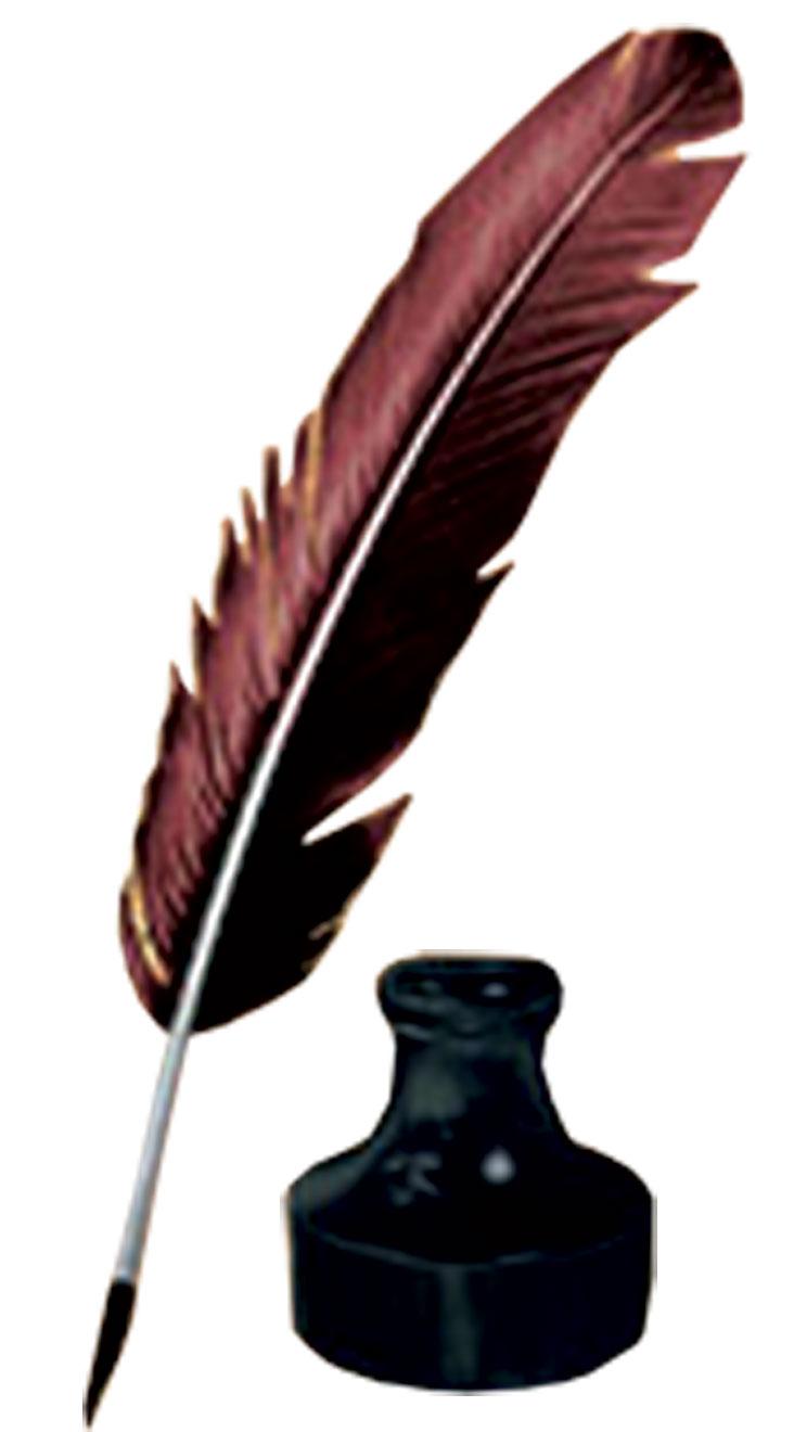 Feather Pen Clip Art -...