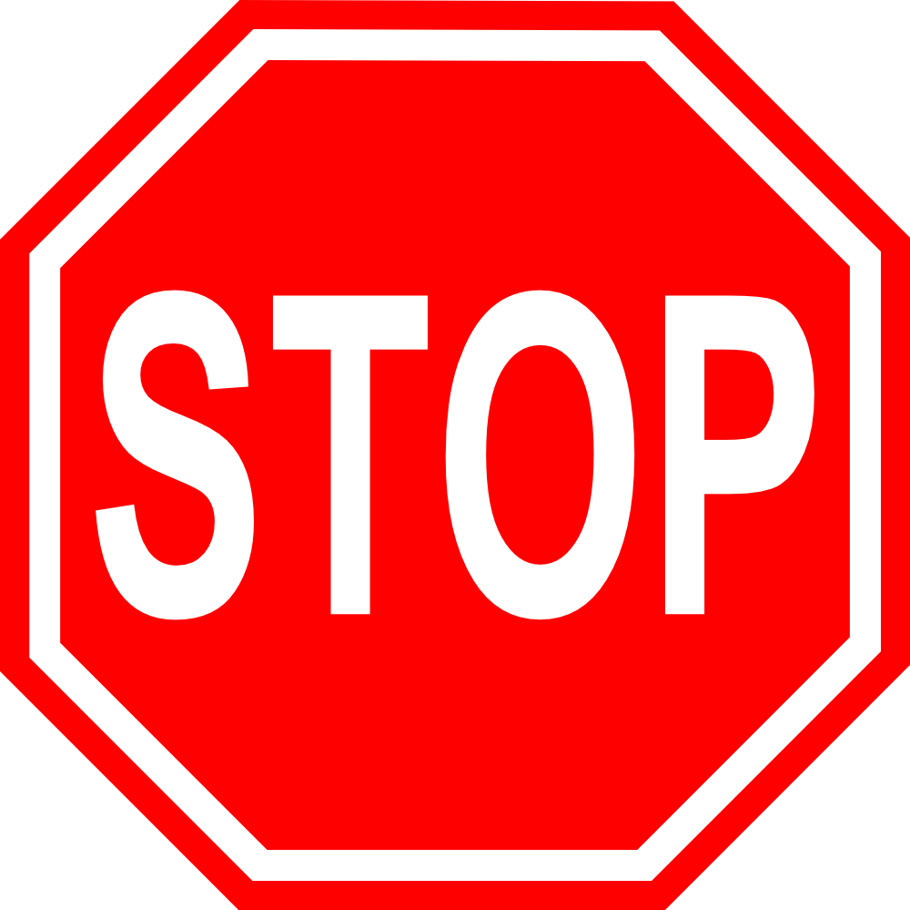 OnlineLabels Clip Art - Stop Sign With Transparent Background ...