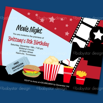 Printable Movie Night Invitations for amazing invitation ideas