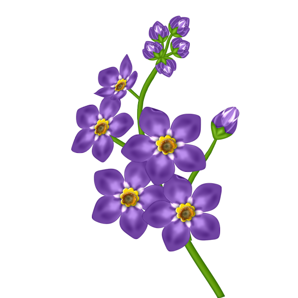 Purple Flowers Clip Art - Cliparts.co