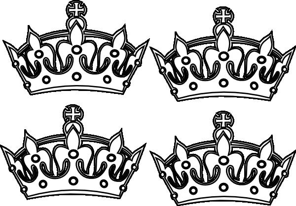 Four Coloring Book Crowns clip art - vector clip art online ...