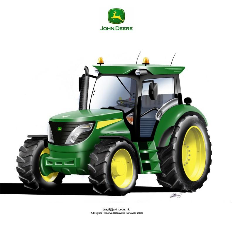 John Deere Tractor Cartoon Drawing : John deere tractor drawings imgkid the image