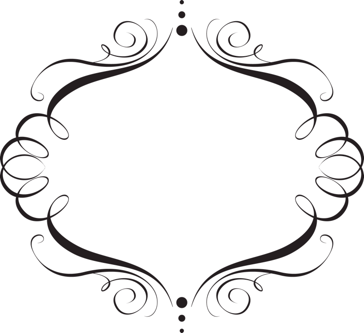 Oval Frame On White Elegant Tattoo - Cliparts.co