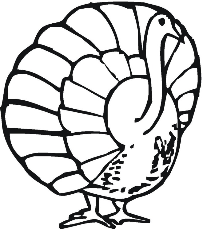 coloring pages cooked turkey - photo#30