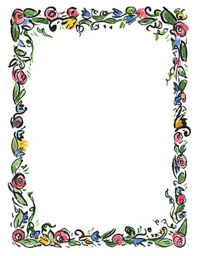 Spring Flower Border Clipart | Clipart Panda - Free Clipart Images