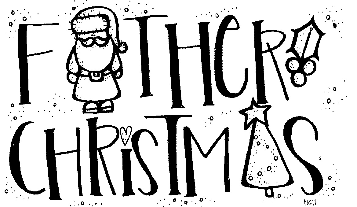 father christmas pictures to colour cliparts co