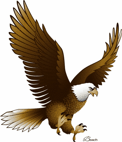 Free Black And White Eagle Clip Art