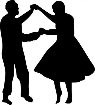 Ballroom Dancing Silhouette Vector Dancing silhouette clip art