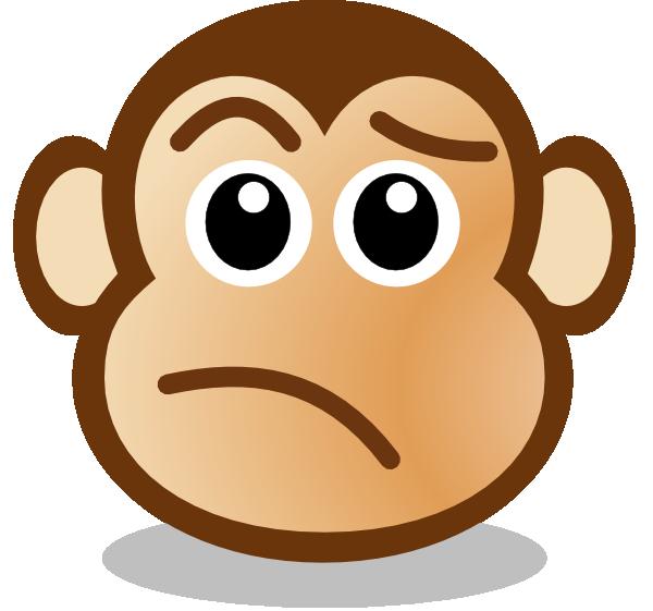 Monkey Face clip art - vector clip art online, royalty free ...