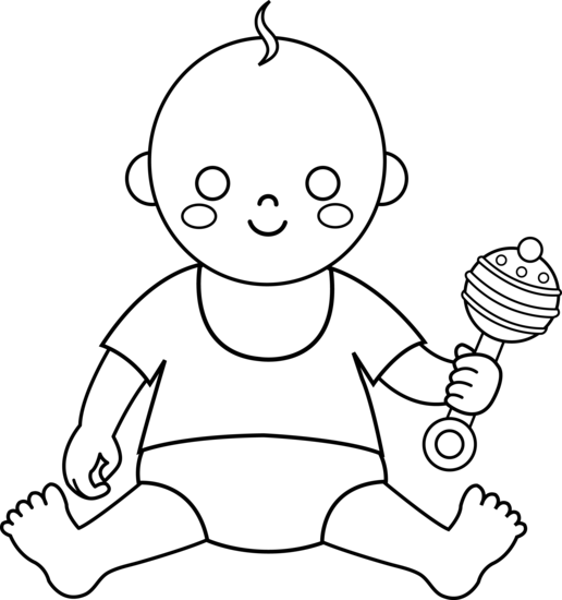 Line Drawing Baby : Free line art drawings cliparts
