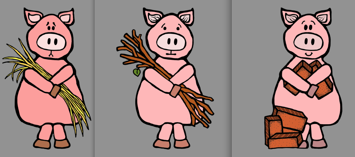 Three little pigs characters printable - photo#19