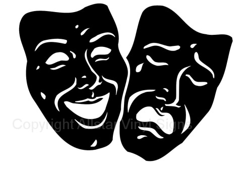 Drama Car Stickers - Theater Vinyl Window Decals
