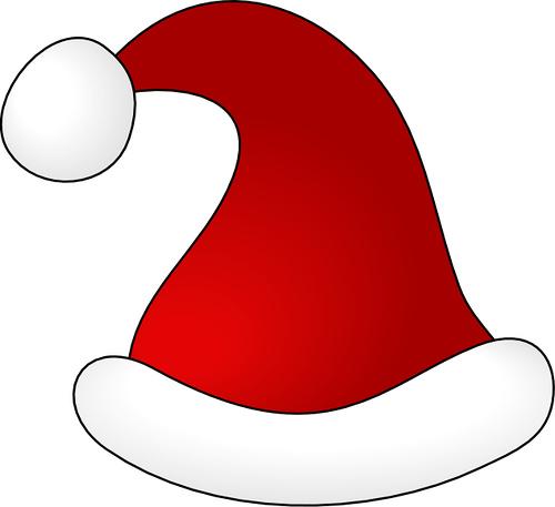 christmas santa hat clipart - photo #22