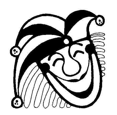 joker black and white clipart