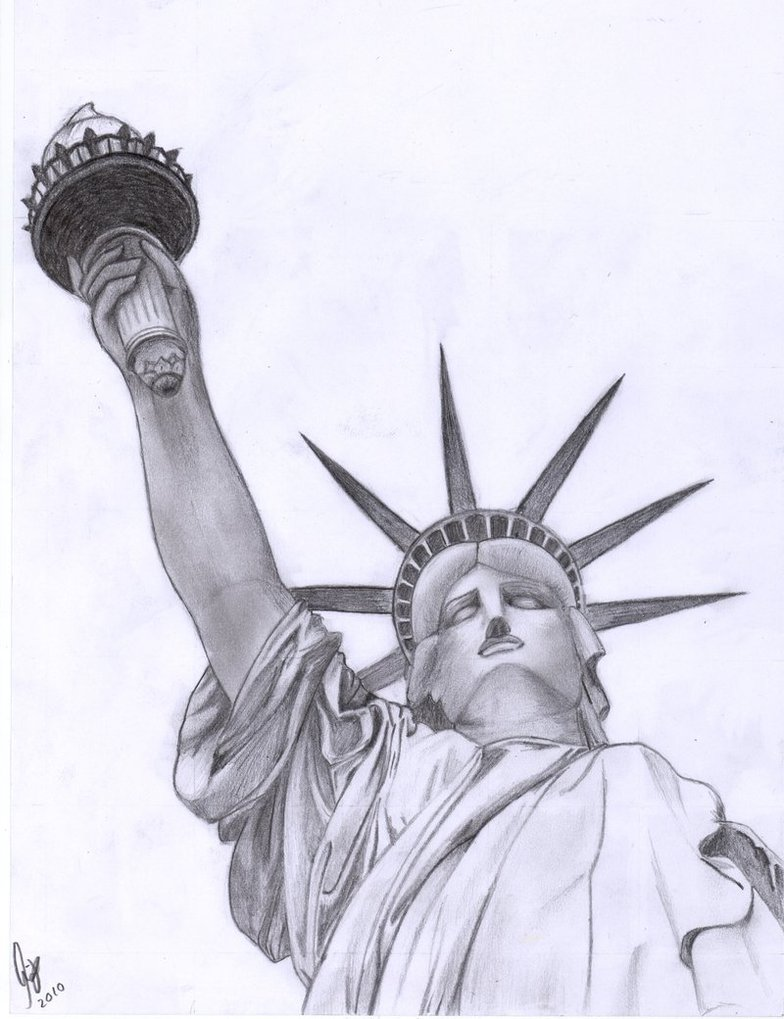 Statue Of Liberty Drawing Outline - Cliparts.co Statue Of Liberty Drawing Face