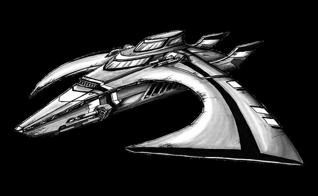 Spaceship Drawing