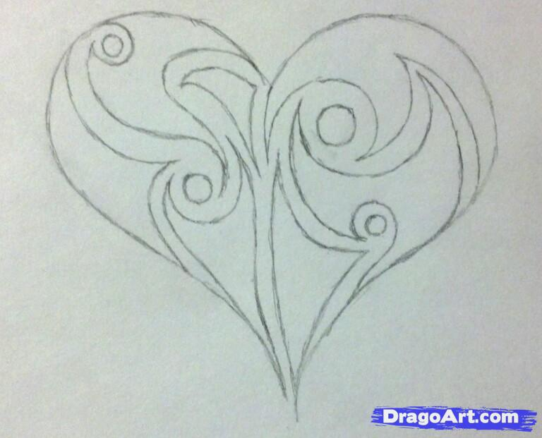 Drawings Of Easy Hearts - Cliparts.co